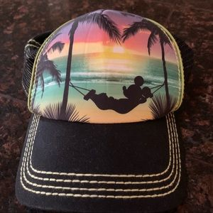 Kids Disney Mickey Beach Theme Baseball Cap OS